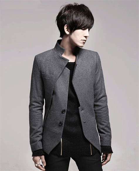 Blazer Fashion Korea new 2015 fall casual warm fleece asymmetric blazer mens korean style fashion irregular slim fit