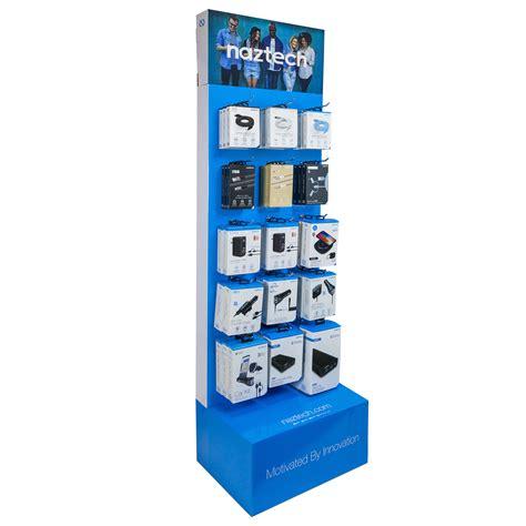 naztech universal  tier cardboard floor display