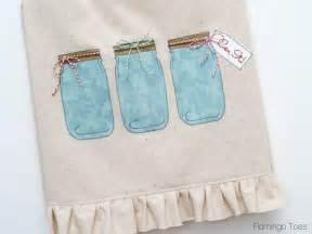 Mason jar dish towel pattern allfreesewing com