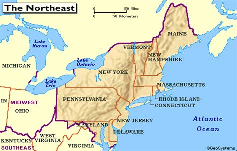 northeast map of the united states quia class page northeast region january