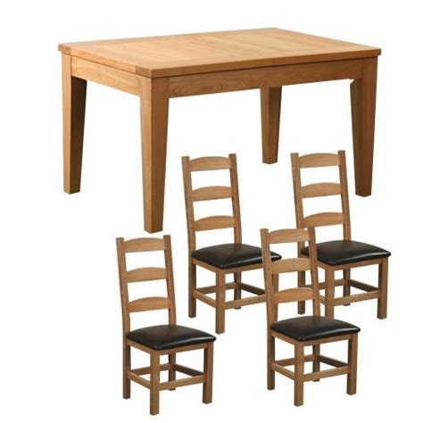 The Range Dining Table And Chairs Oak Furniture Range Tables And Chairs