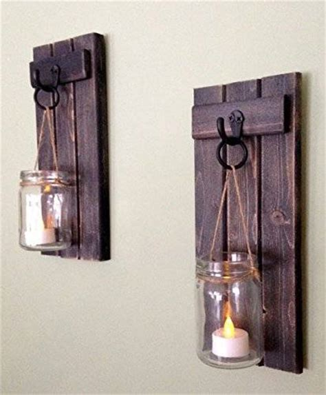 rustic wooden candle holder jar candle