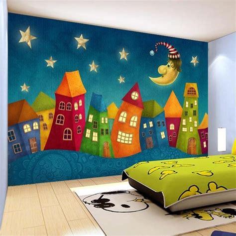 custom wall paper cartoon children castle  wall murals