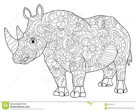 z coloring book for and adults 40 illustrations books hippopotamus coloring book vector for adults stock vector