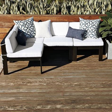 outdoor wood sectional wooden outdoors sofa plan diy woodworking projects