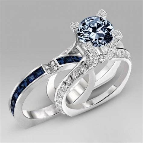 best 25 blue wedding rings ideas on wedding
