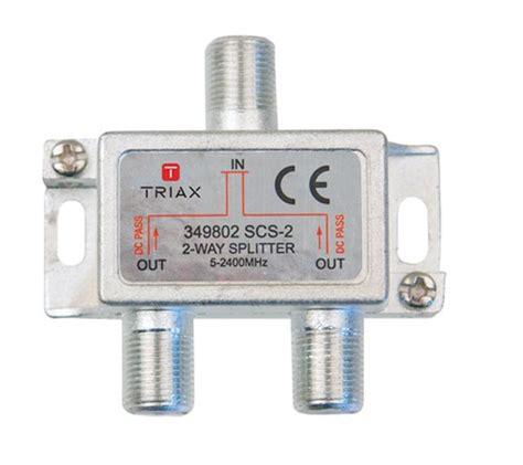 Spliter Tv 2 Way triax 2 way tv aerial splitter 5 2400 mhz 349802