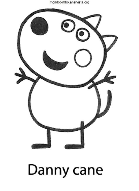 Danny Dog Coloring Page | danny dog peppa pig colouring pages memes
