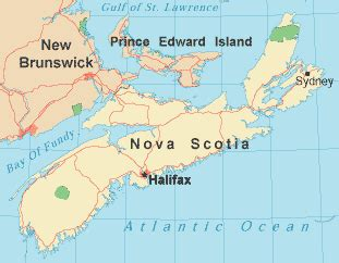 where is scotia in canada on the map maps of scotia