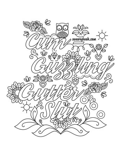 printable coloring sheets for adults guzzling gutter vulgar coloring pages