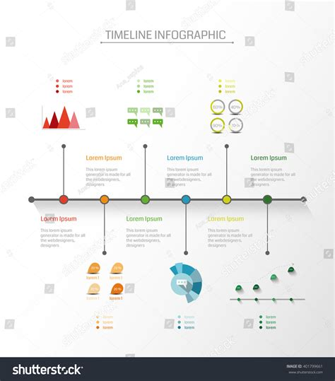 timeline business card template infographics vector design template timeline business