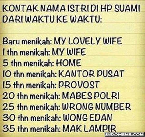 kontak nama istri di hp suami gambarlucu memelucu http www indomeme meme kontak nama