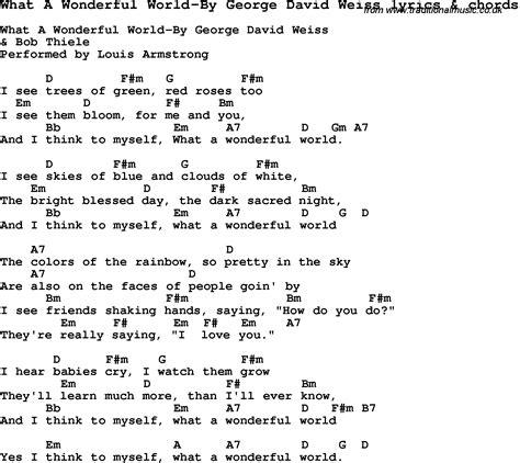 printable lyrics what a wonderful world love song lyrics for what a wonderful world by george