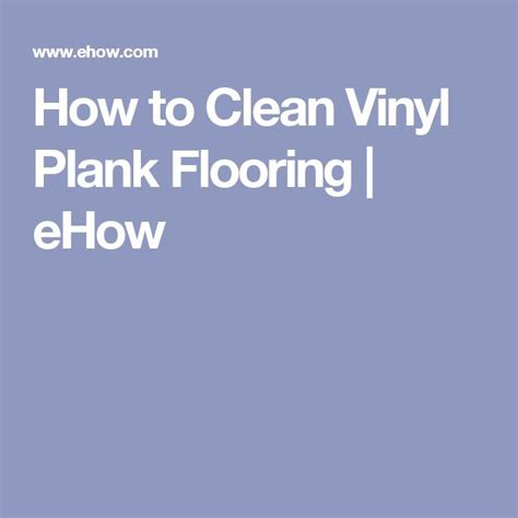 How To Clean Vinyl Plank Floors by How To Clean Flooring Ehow Ask Home Design