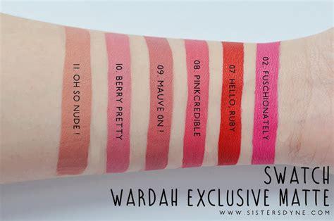 Gincu Wardah da review swatch wardah exclusive matte