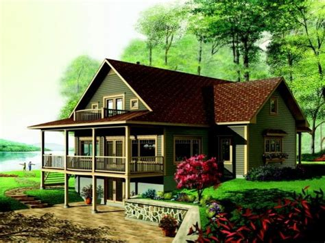 walk out basement house plans lake house plans walkout basement lake house plans lake