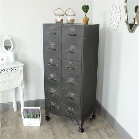 metal 12 drawer storage cabinet melody maison 174