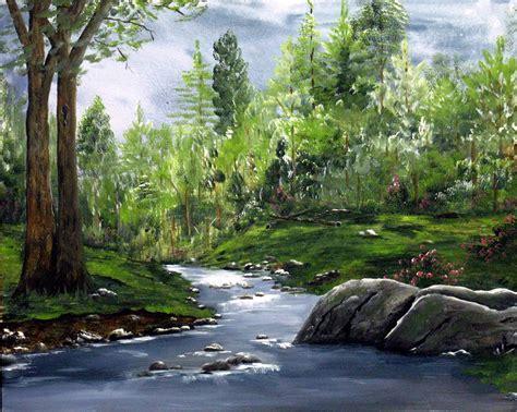 acrylic paint on canvas landscape acrylic painted landscape landscape painting