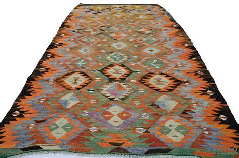 green orange rug k0020016 orange green vintage afyon kilim rug