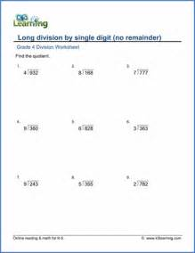 grade 4 long division worksheets free amp printable k5