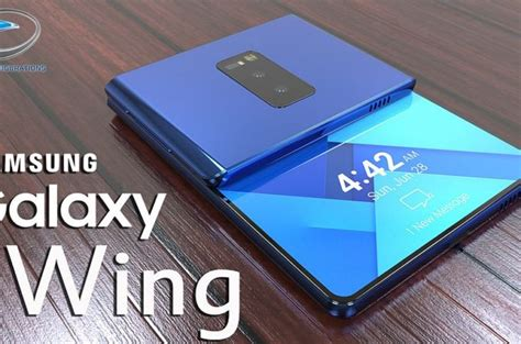 samsung foldable phone samsung galaxy wing foldable phone gets updated design concept phones