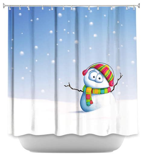 snowman shower curtain shower curtain snowman contemporary shower curtains