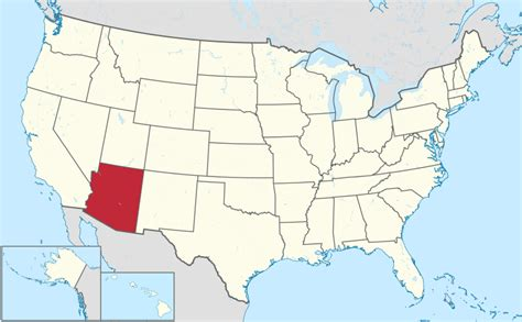 where is arizona located on the map file arizona in united states svg