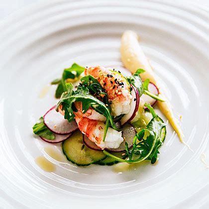 spot prawns recipes spot prawn sesame salad recipe myrecipes