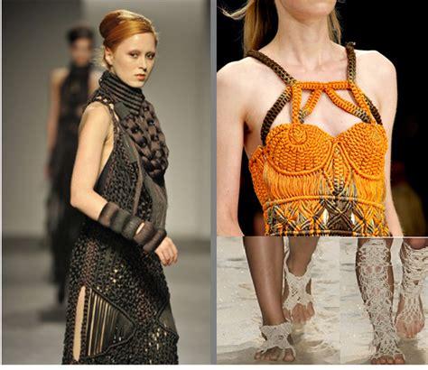 macrame fashion fashion shows fashion designers macram 233 2011
