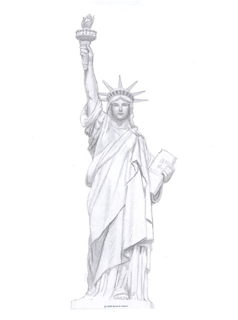 statue of liberty drawing template how to draw the statue of liberty ehow uk