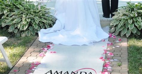Personalized Wedding Aisle Runner Cheap by Personalized Aisle Runners Embracing Hearts Wedding