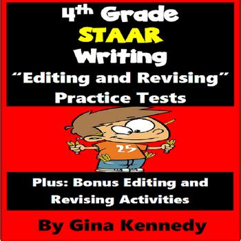Fourth Grade Staar Writing Test Teaching Staar Writing To Quot At Risk Quot 4th Graders by 4th Grade Staar Writing Editing And Revising Practice Tests By Kennedy