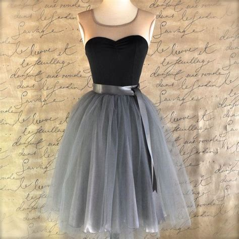 newcharcoal grey tulle tutu skirt for by tutuschicboutique