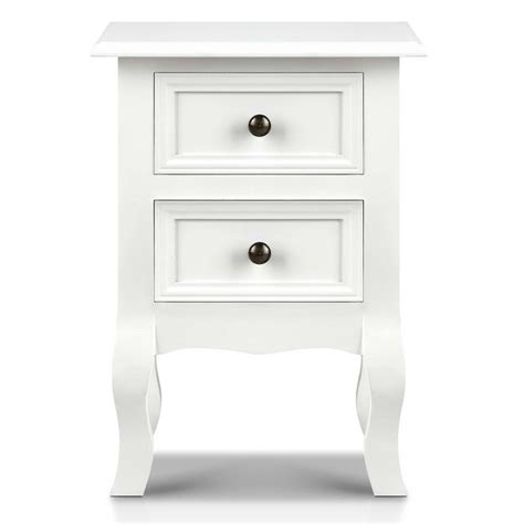bedside table with drawers white vintage style bedside side table with 2 drawers white