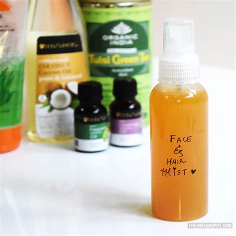 diy makeup setting spray with green tea diy green tea and hair mist for glowing skin and soft hair theindianspot
