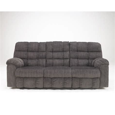 Microfiber Reclining Sectional Sofa Furniture Acieona Microfiber Reclining Sofa In Slate 5830089