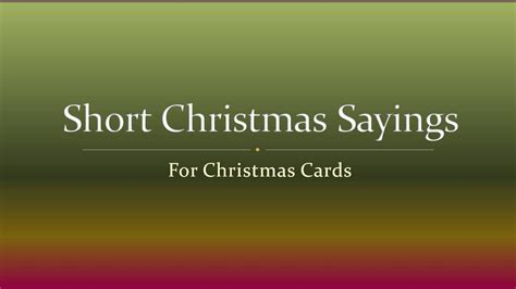 short christmas sayings  christmas cards youtube