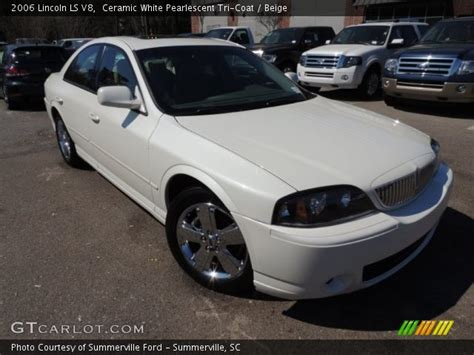 Ceramic Ls Ceramic White Pearlescent Tri Coat 2006 Lincoln Ls V8