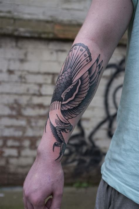 eagle forearm tattoo 70 most amazing eagle designs the xerxes