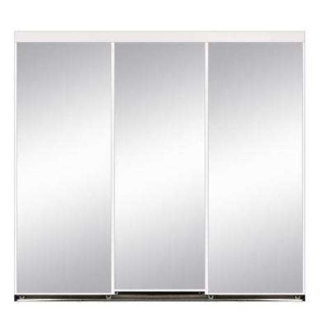 3 Track Sliding Closet Doors 120 X 84 Sliding Doors Interior Closet Doors The Home Depot