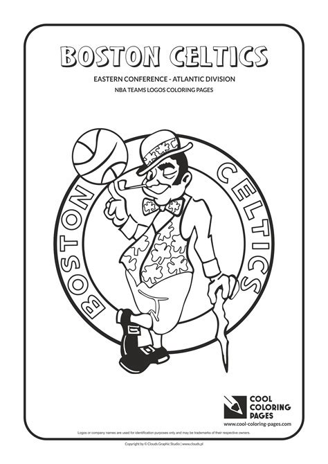 coloring pictures of nba teams cool coloring pages nba teams logos boston celtics
