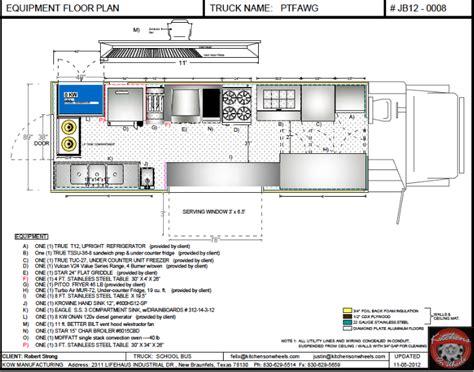 food truck floor plans cad equipment floor plan food trucks for sale used
