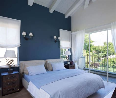 blue white bedroom gorgeous villa in israel showcases the well traveled look