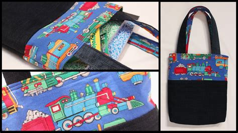 pattern for a tote bag with lining child size lined tote bag how to whitney sews youtube