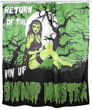 zombie pinup shower curtain shower curtains make your bathroom shine without paint