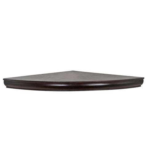espresso floating corner shelf 18 inch radius woodland