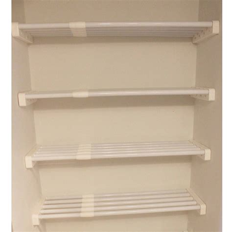 closet shelves walmart easy track closet rs1423on 24 quot white shelves 2 count