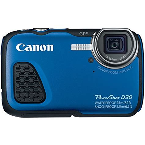 canon waterproof digital canon powershot d30 waterproof digital blue