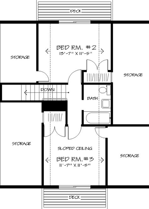 The Nordic 1406 3 Bedrooms And 2 5 Baths The House Designers