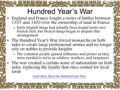 Hundred Years War Essay by Hundred Years War Essay